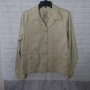 L.L.Bean tan Four pocket  jacket medium